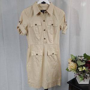 ABS Allen Schwartz Tan Dress 8.             J11